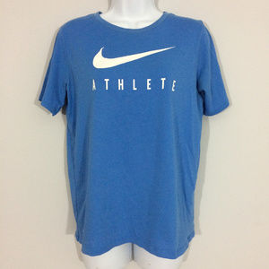 Nike Womens XL Blue Athletic Cut Dri-Fit T-Shirt
